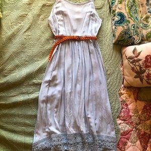 NWOT Lace Back Dress w/ Crochet Trim